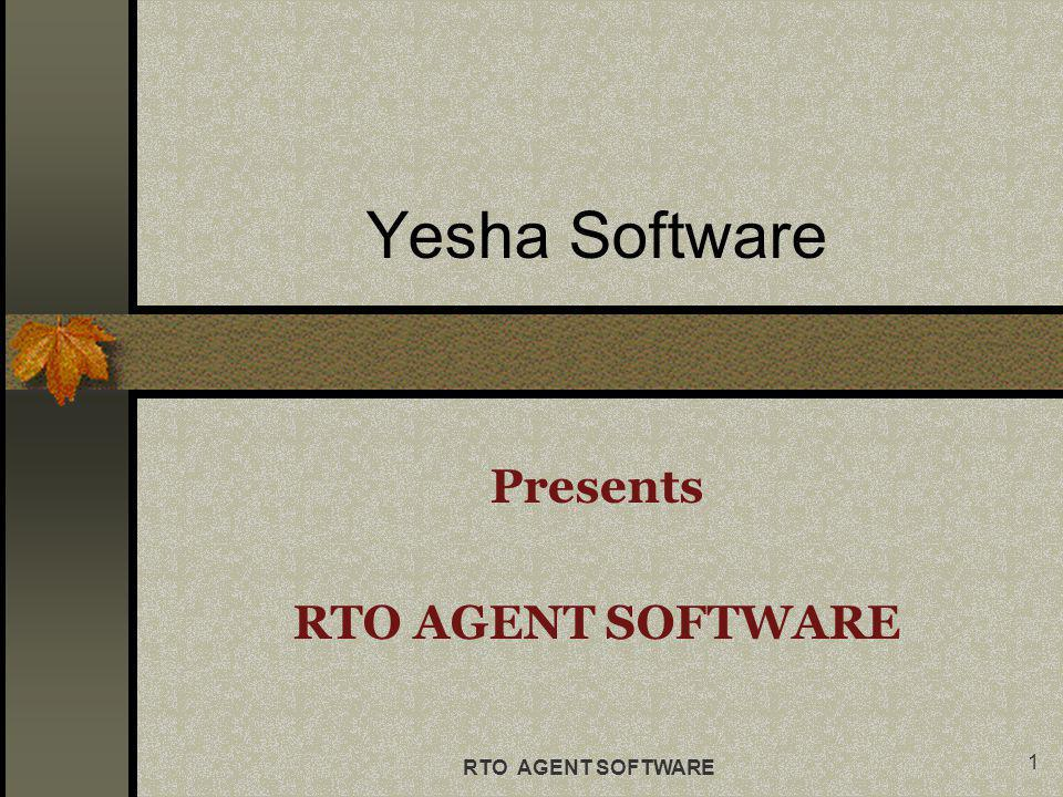 RTO AGENT SOFTWARE Settings contains basic settings for SMS and Email.