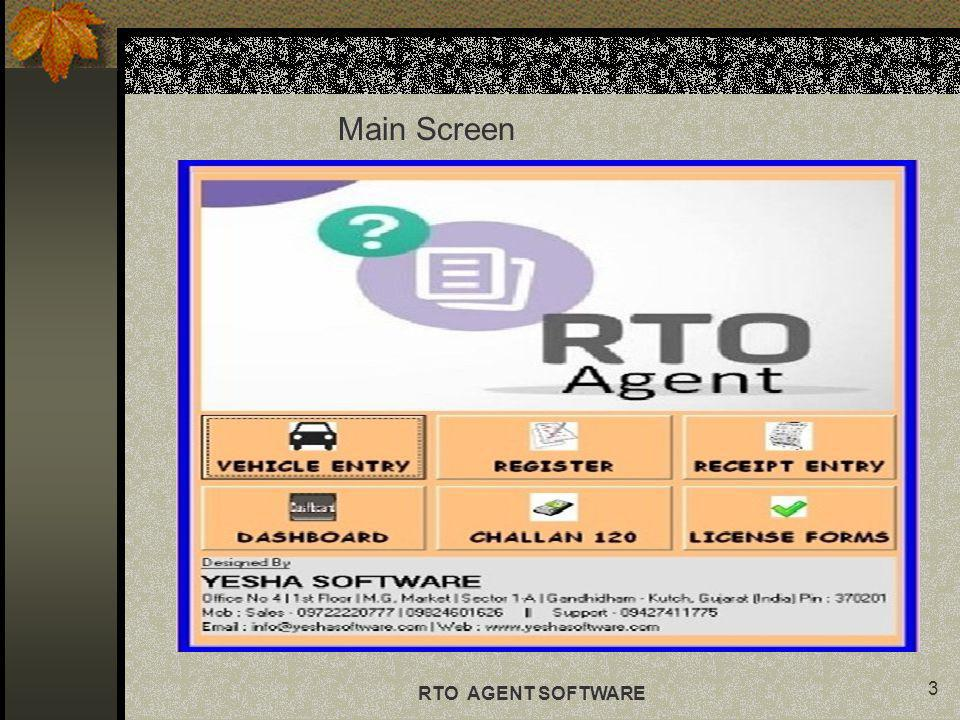 3 Main Screen RTO AGENT SOFTWARE
