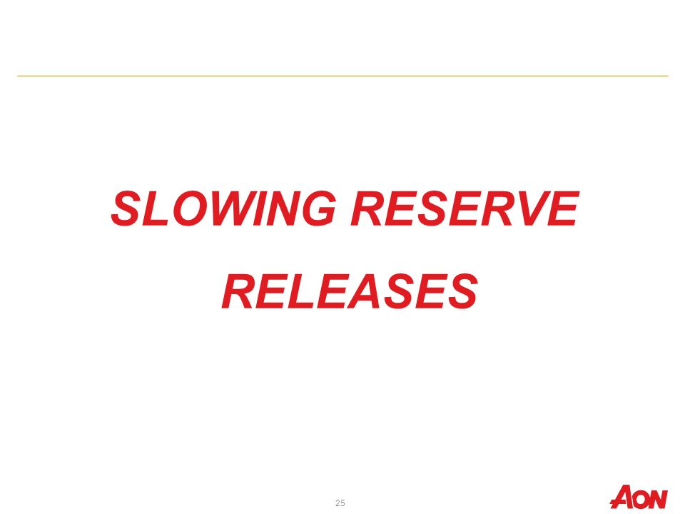 SLOWING RESERVE RELEASES 25