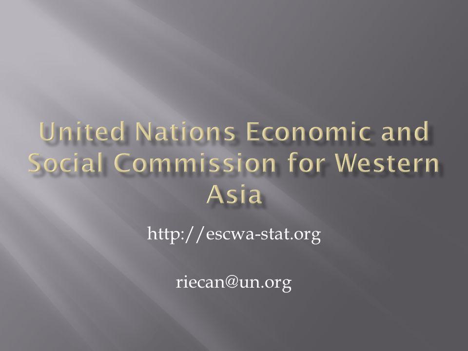 http://escwa-stat.org riecan@un.org