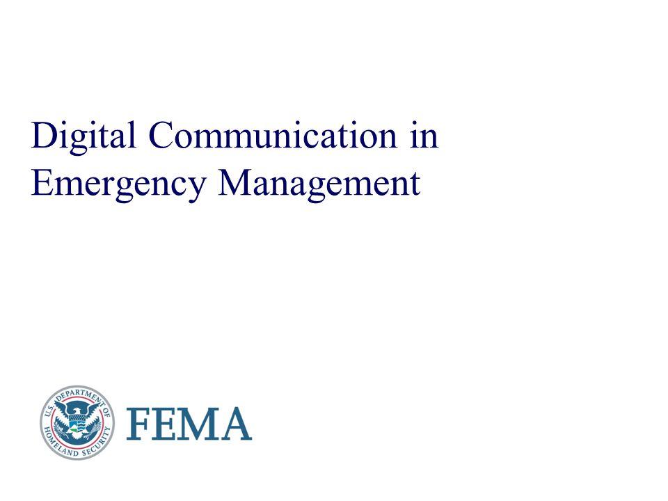 Digital Communication in Emergency Management