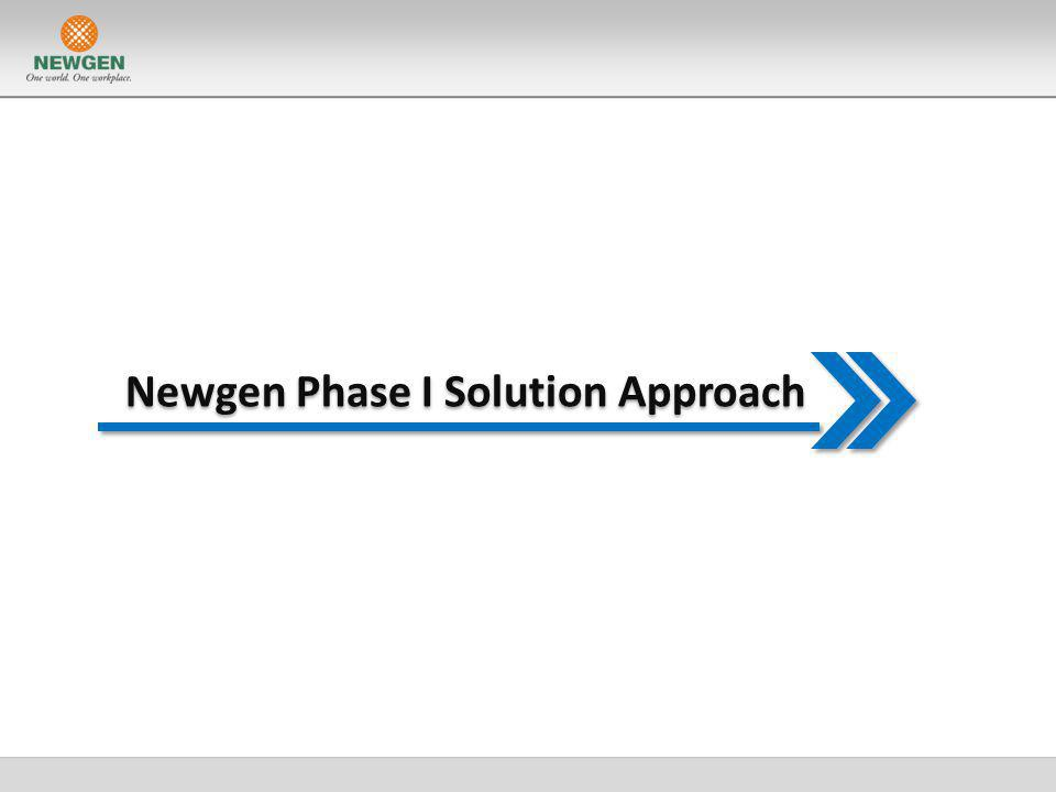 Newgen Phase I Solution Approach