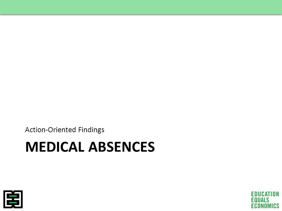 MEDICAL ABSENCES Action-Oriented Findings