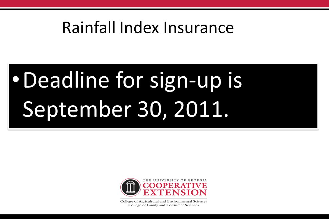 Rainfall Index Insurance Participants choose PRODUCTION levels from 70-90% and PAYMENT levels from 100-150%. Indemnity triggers when your GRID rainfal