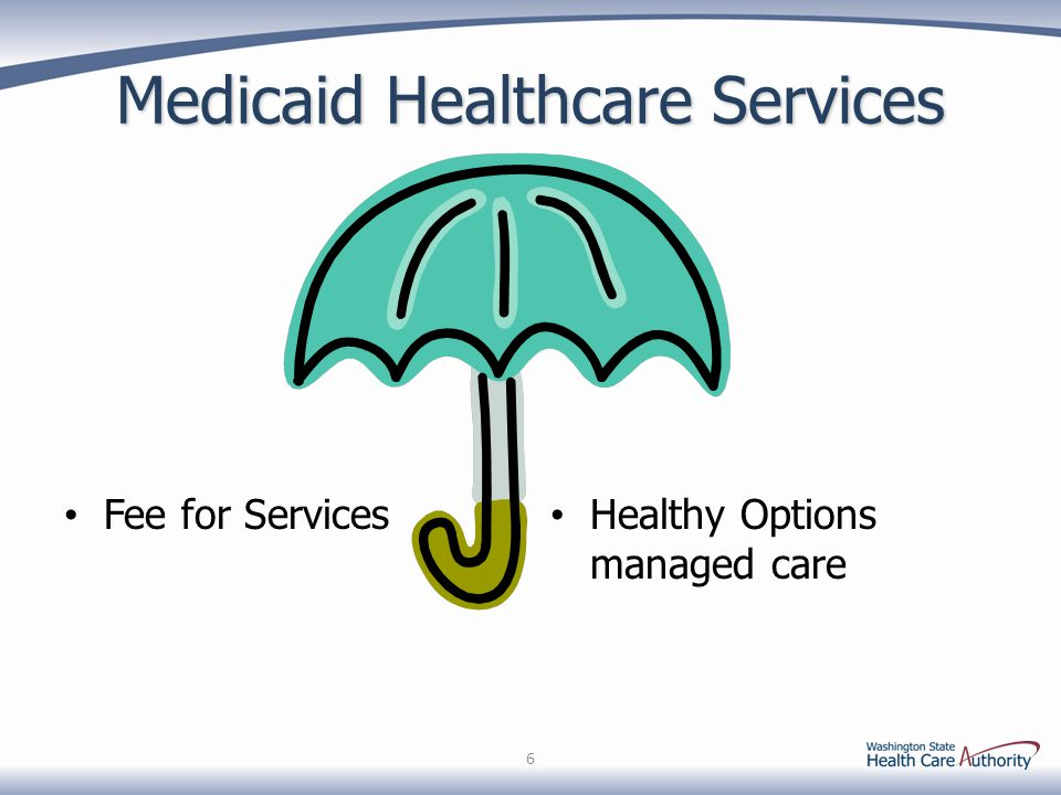Medicaid Healthcare Services Fee for Services Healthy Options managed care 6