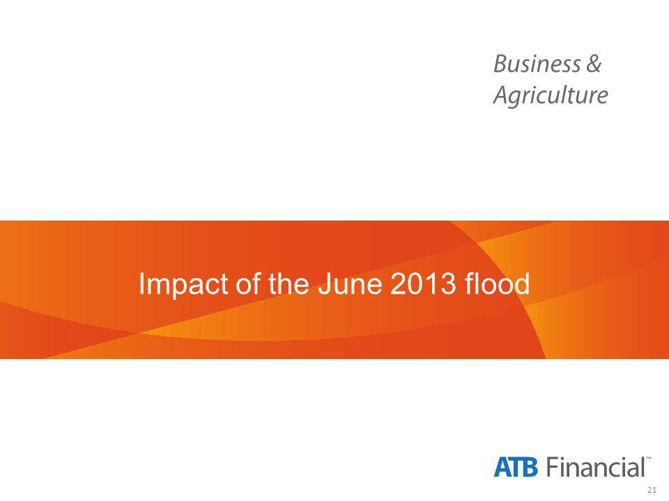 21 Impact of the June 2013 flood
