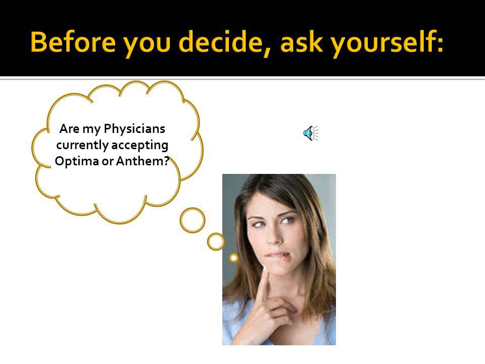 How often do I see a Specialist or a Primary Care Physician