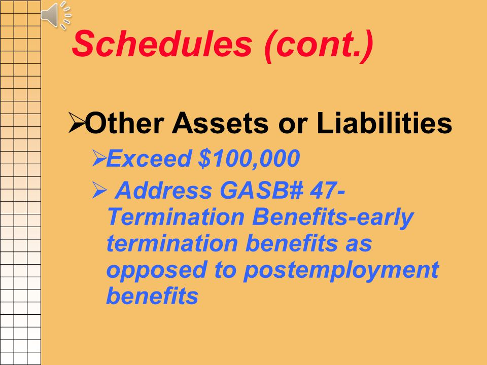 Schedule G (cont.) Schedule G Reconciliation Form Reconcile Federal Funds in R*STARS to Sch G a. Accounts Receivable Deferred Revenue b. Expenditures