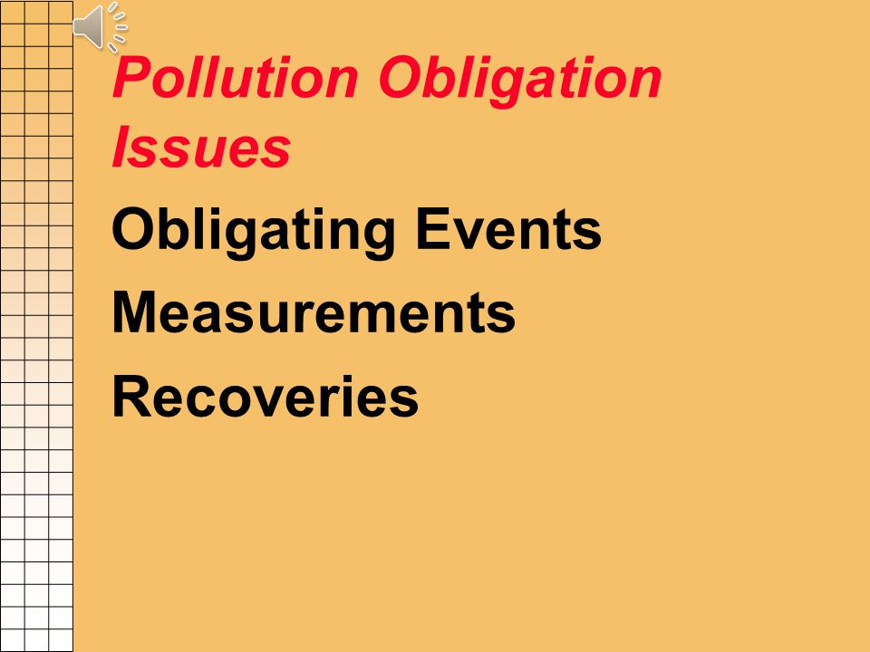 Schedule L - GASB# 49- Accounting for Pollution Remediation Obligations Will need to co-ordinate with Attorney Generals Office – end of year balance Estimated cost $1,000,000 or more per site.