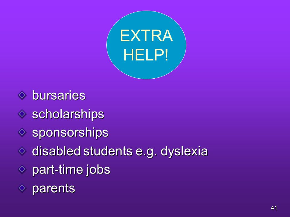 bursaries bursaries scholarships scholarships sponsorships sponsorships disabled students e.g.