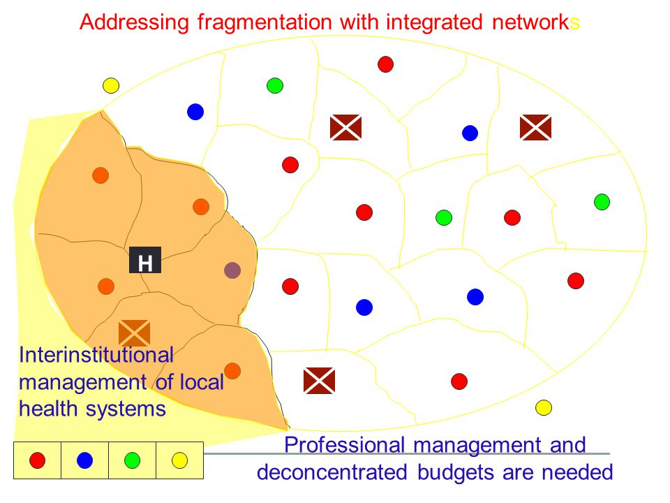 Addressing fragmentation with integrated networks H Interinstitutional management of local health systems Professional management and deconcentrated b