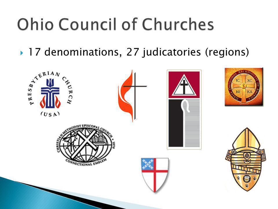 17 denominations, 27 judicatories (regions)