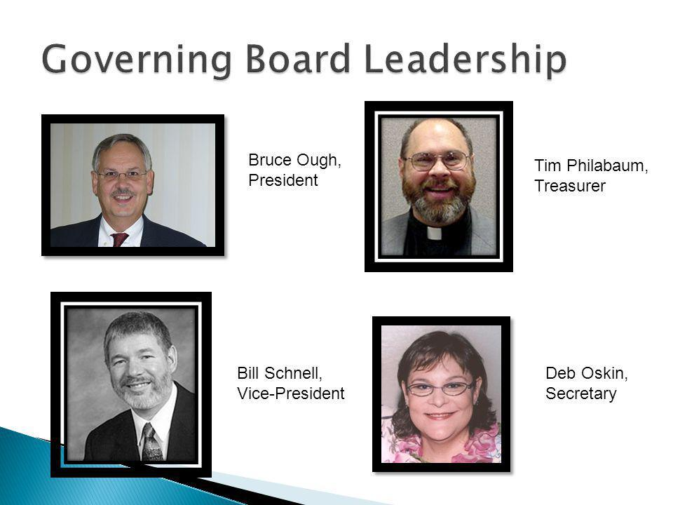 Bruce Ough, President Tim Philabaum, Treasurer Bill Schnell, Vice-President Deb Oskin, Secretary