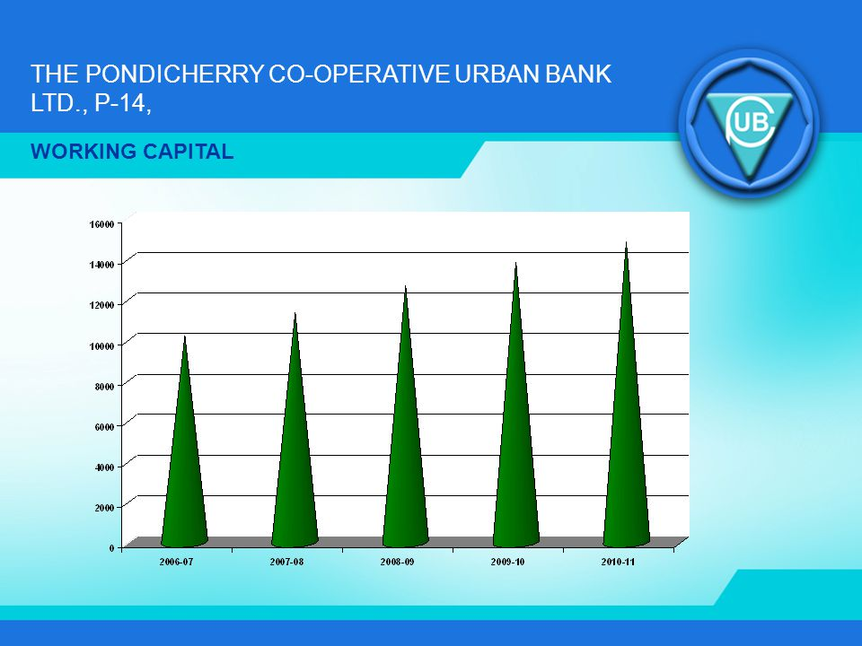 THE PONDICHERRY CO-OPERATIVE URBAN BANK LTD., P-14, WORKING CAPITAL