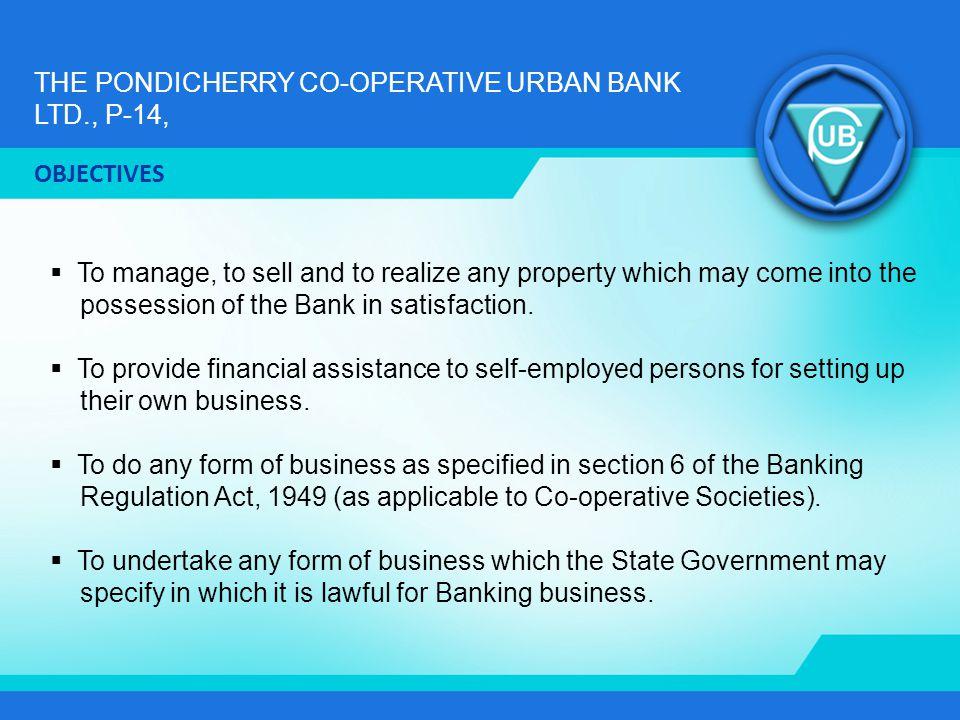 THE PONDICHERRY CO-OPERATIVE URBAN BANK LTD., P-14, INTEREST FOR LOANS Sl.