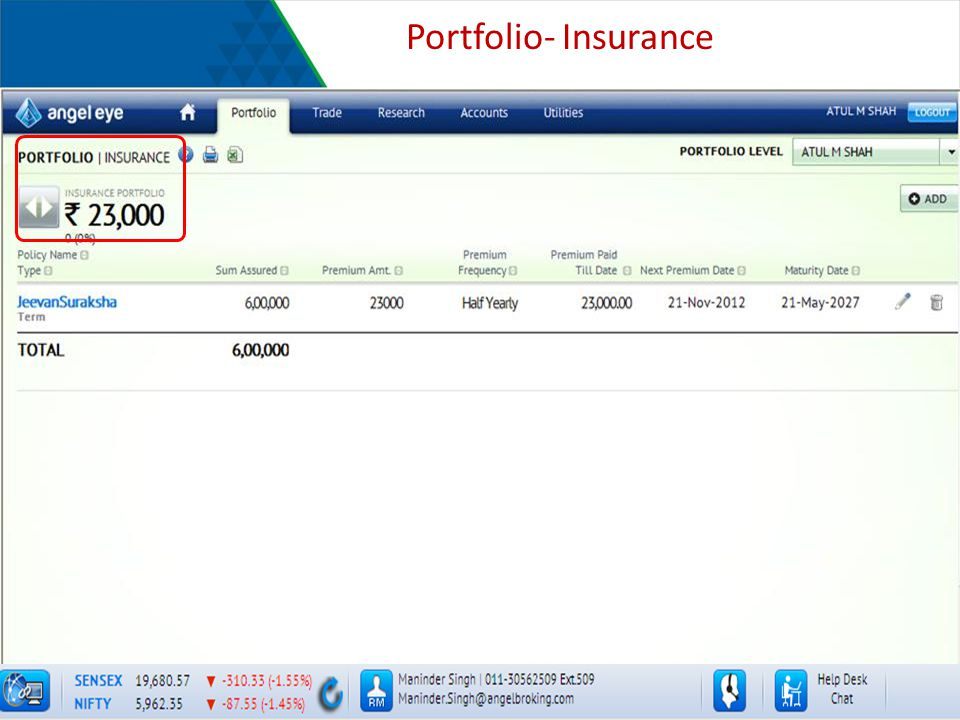 Portfolio- Insurance