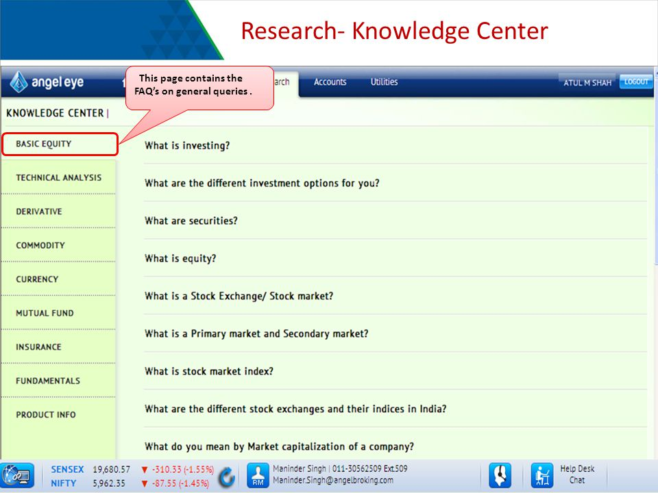 Research- Knowledge Center This page contains the FAQs on general queries.