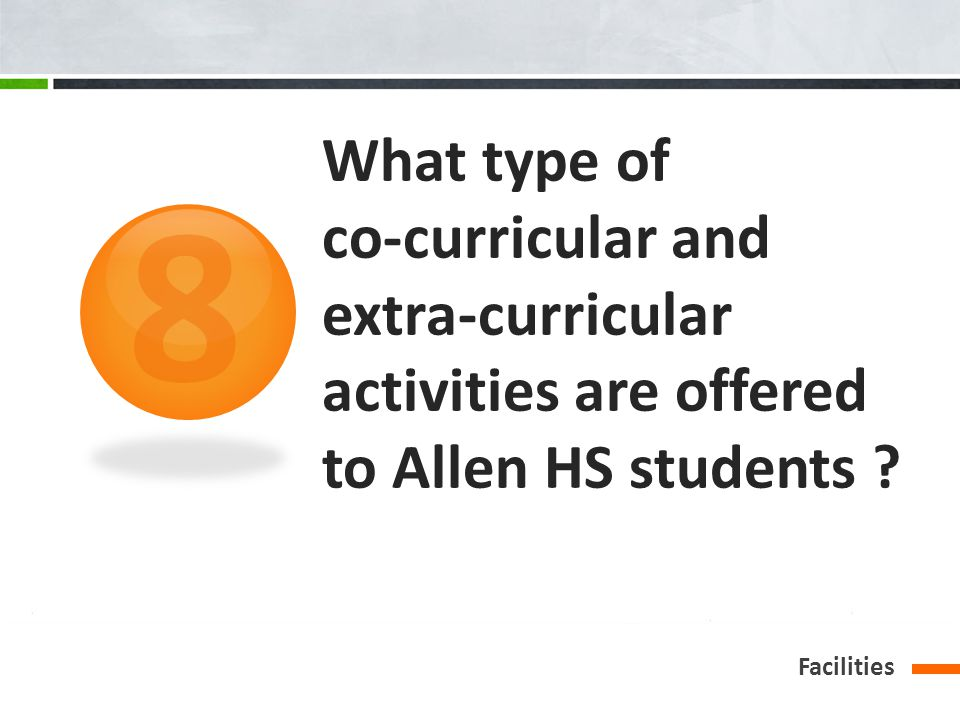 What type of co-curricular and extra-curricular activities are offered to Allen HS students .