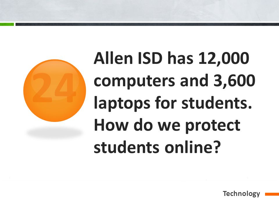 Allen ISD has 12,000 computers and 3,600 laptops for students.