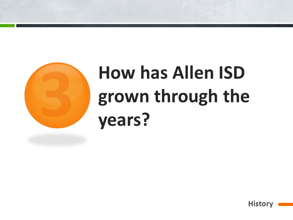 How has Allen ISD grown through the years History 3