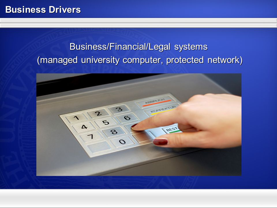 Business Drivers Research systems (semi-managed computer, open network)
