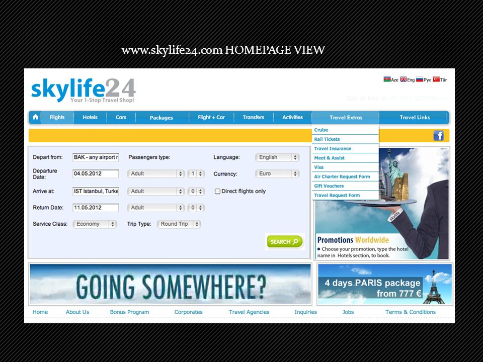 www.skylife24.com HOMEPAGE VIEW