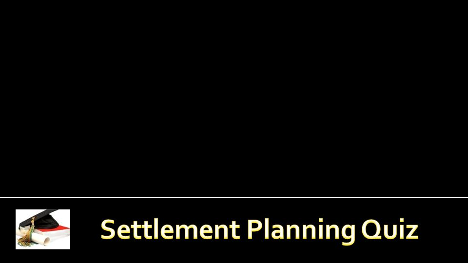 COMPREHENSIVE SETTLEMENT PLAN: Following completion of the two academic courses through Texas Tech University, the RSP candidate must prepare a comprehensive settlement plan, which is reviewed by a panel of peers.