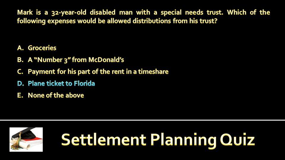 RSP DESIGNATION: The Registered Settlement Planner (RSP) designation is a professional certification awarded by the Registry of Settlement Planners (the Registry).