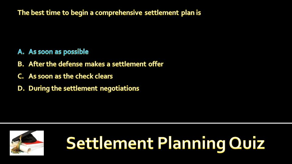 PREREQUISITE, ENROLLMENT AND INSTRUCTION: Current employment as a settlement planner or closely associated field with settlement planning.