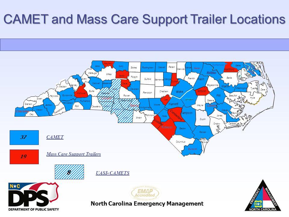 North Carolina Emergency Management Watauga Ashe Cherokee Graham Swain Clay Macon Jackson Haywood T r a n s y l v a n i a Henderson Buncombe Madison Y