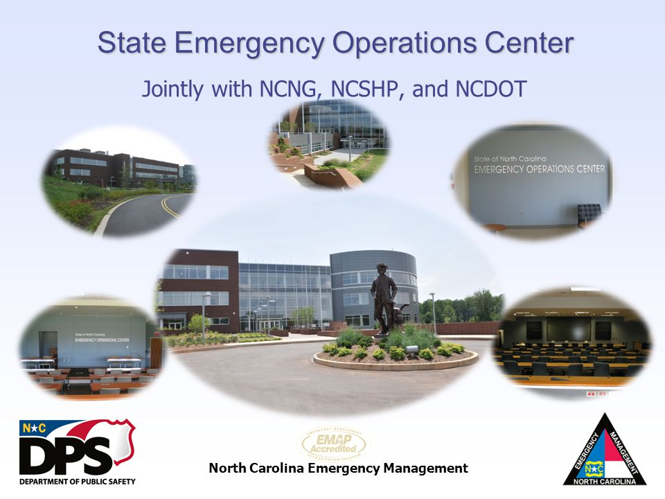 North Carolina Emergency Management State Emergency Operations Center Jointly with NCNG, NCSHP, and NCDOT WRAL