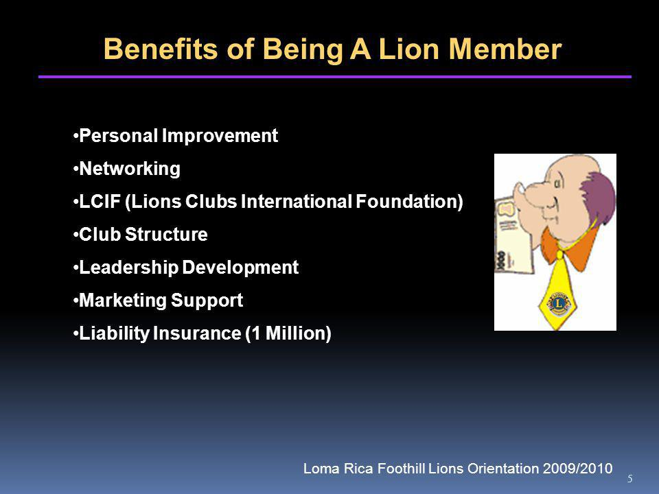 5 Benefits of Being A Lion Member Personal Improvement Networking LCIF (Lions Clubs International Foundation) Club Structure Leadership Development Ma