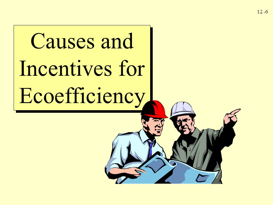 12 -6 Causes and Incentives for Ecoefficiency