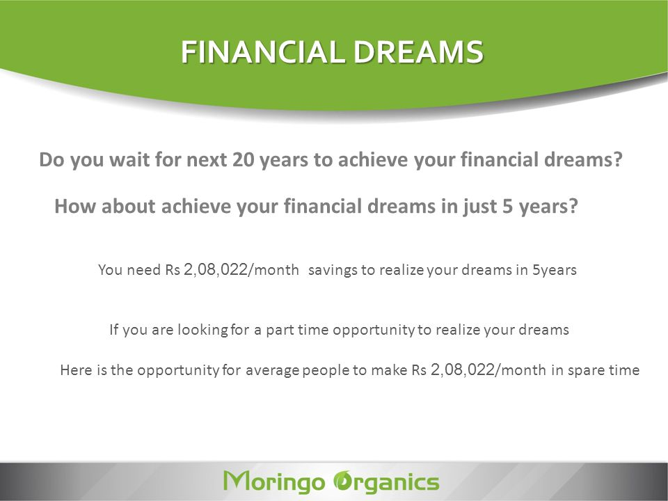 Do you wait for next 20 years to achieve your financial dreams? How about achieve your financial dreams in just 5 years? You need Rs 2,08,022 /month s