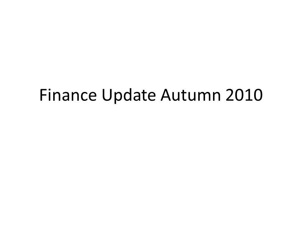 Finance Update Autumn 2010