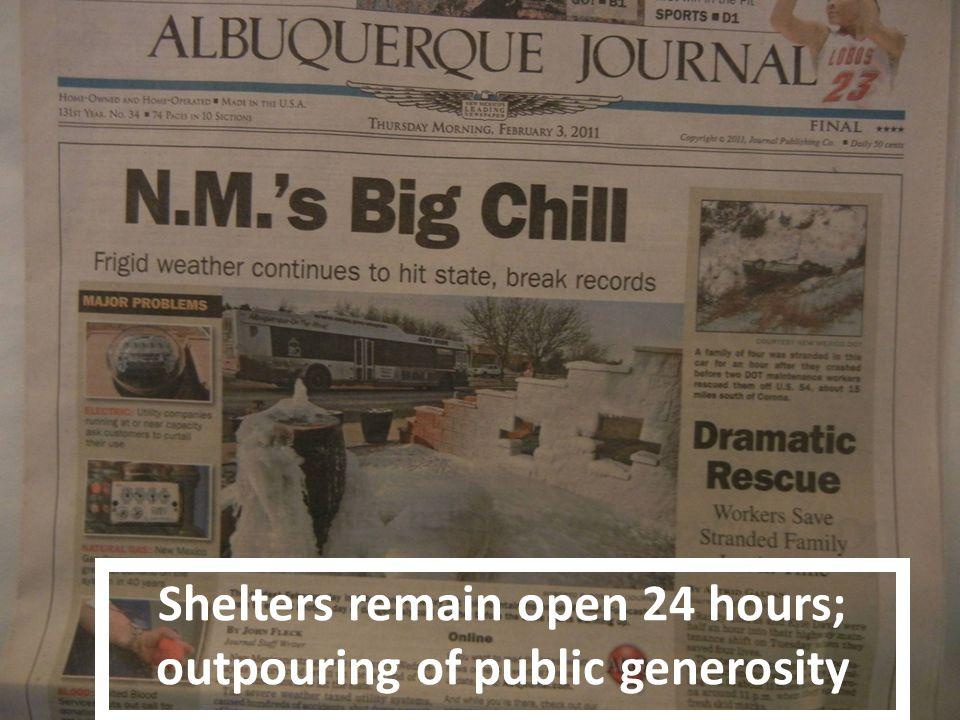 25% go to Health Care for the Homeless 25% go to University New Mexico Hospital Albuquerques 75 Most Vulnerable 41% report having no health insurance