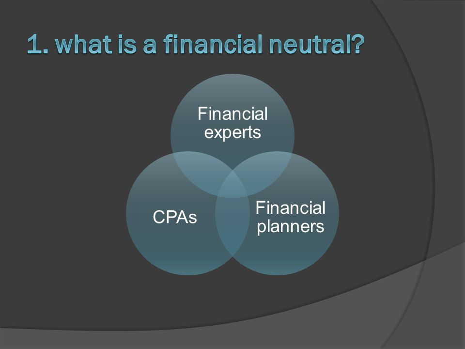 Financial experts Financial planners CPAs