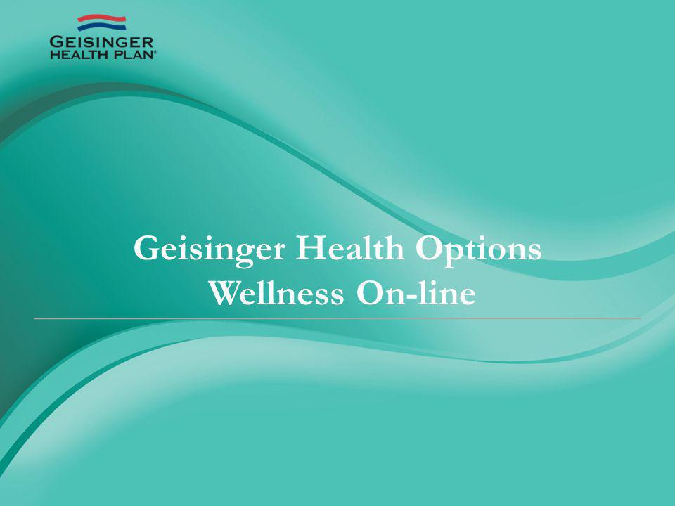 Geisinger Health Options Wellness On-line