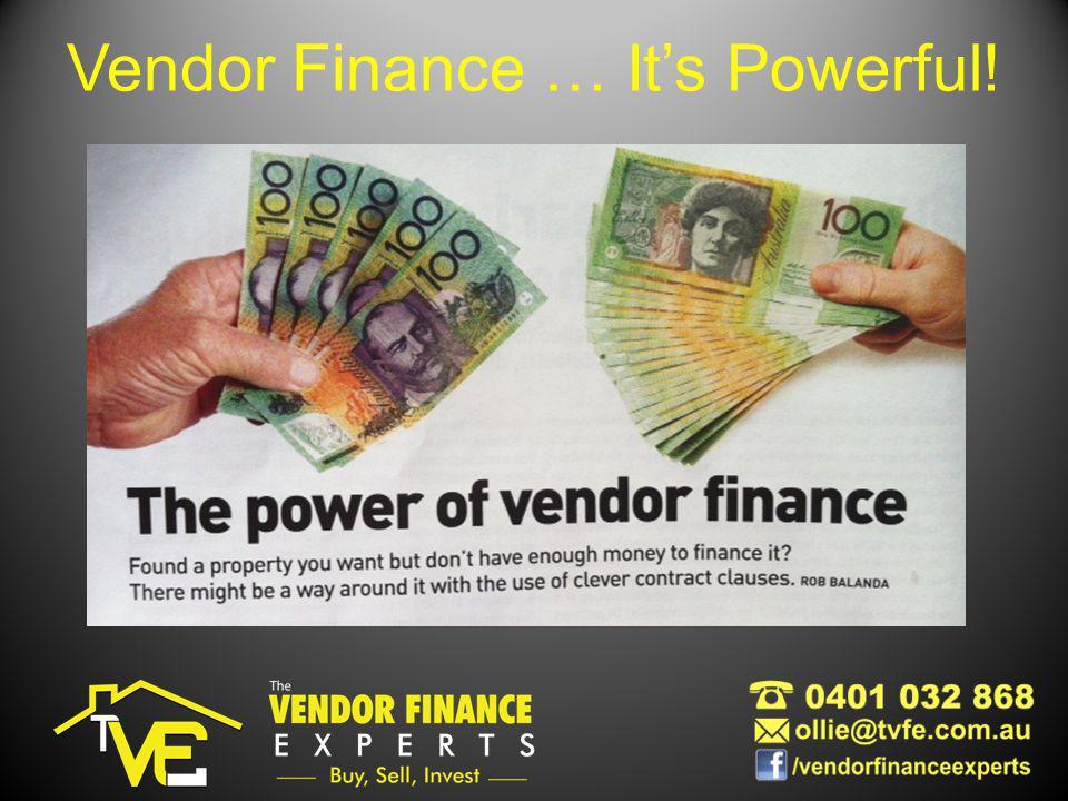 Vendor Finance … Its Powerful!