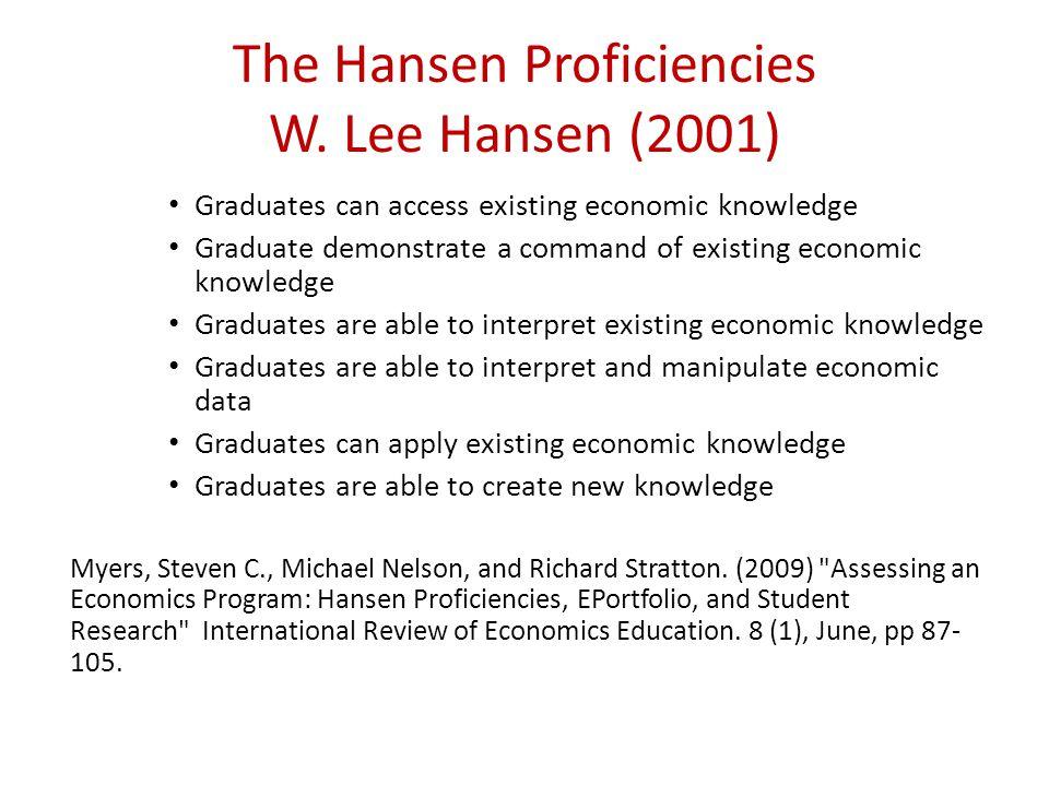 The Hansen Proficiencies W.