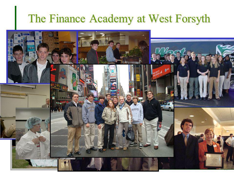 A NAF MEMBER PROGRAM 11 The Finance Academy at West Forsyth
