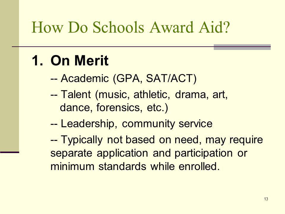 How Do Schools Award Aid.