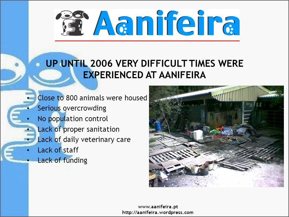 TERRIBLE LIVING CONDITIONS OvercrowdingLack of sanitation www.aanifeira.pt http://aanifeira.wordpress.com