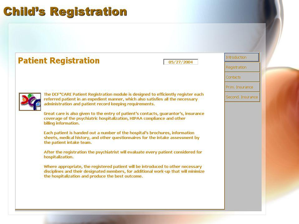 Childs Registration