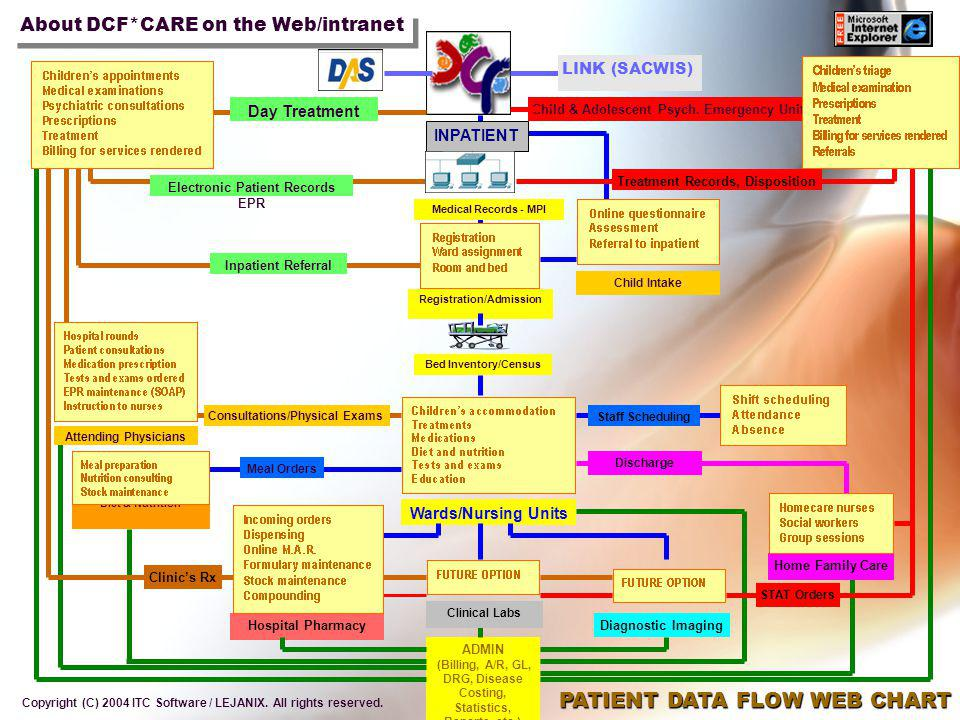 PATIENT DATA FLOW WEB CHART