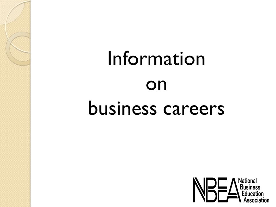 Information on business careers