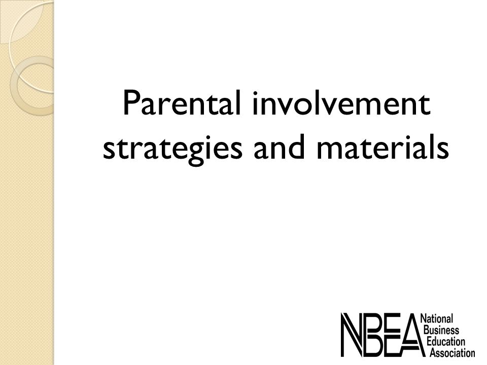 Parental involvement strategies and materials