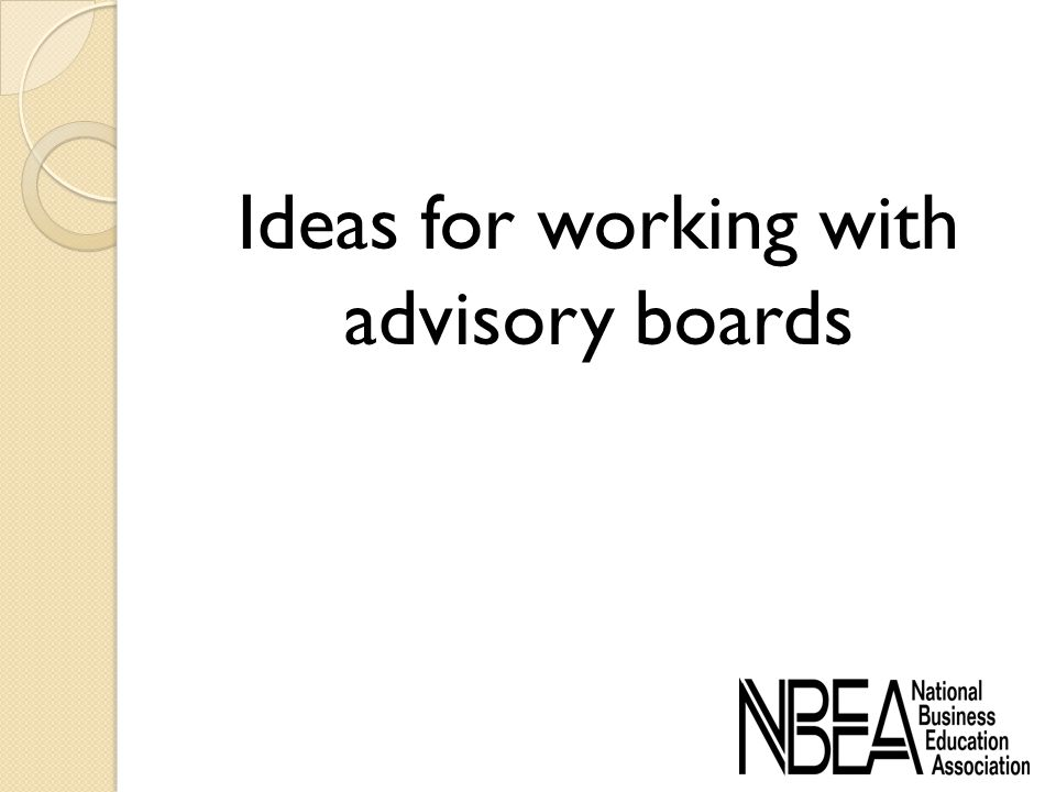 Ideas for working with advisory boards