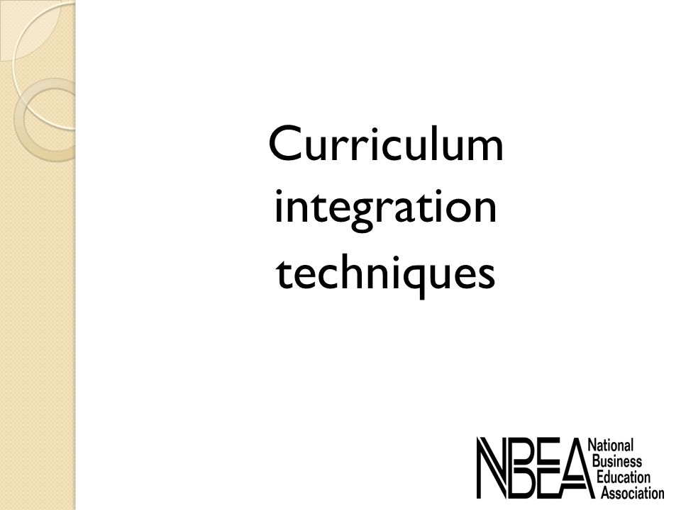 Curriculum integration techniques