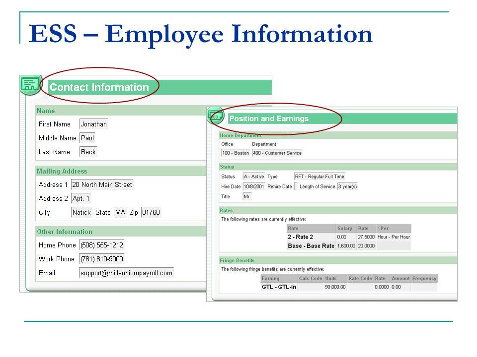 ESS – Employee Information